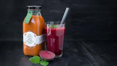 Beetroot, carrot and apple juice